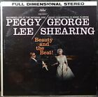 """Peggy Lee & George Shearing """"Beauty And The Beat!"""" Live 1959 LP photo"""