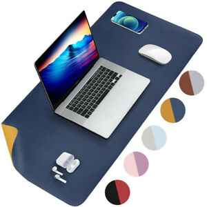 PU Leather Dual Sided Desk Pad Non-Slip Mouse Pad Waterproof Desk Writing Mat