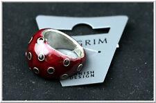Pilgrim Denmark Jewelry Silver Ring Purple Swarovski Crystals Adjustable RARE