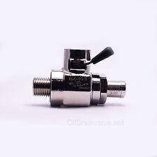 EZ Engine Oil Drain Valve EZ-103(12mm-1.25) & Straight Hose End H-001 COMBO PACK