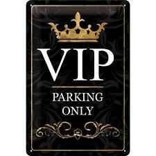 VIP Parking only Blechschild Schild Metal Tin Sign 3D geprägt gewölbt 20 x 30 cm