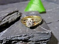 Designer 585 14 K Gold Ring 0,2 Ct Diamant Solitär Verlobung Wilhelm Müller Edel