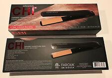 """100% Authentic CHI Original Pro 1"""" Black Ceramic Hair Straightener Flat Iron New"""