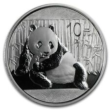 Chinese Panda 2015 1 oz .999 Silver Coin