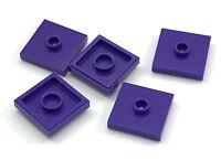 Lego 5 New Dark Purple Plates Modified 2 x 2 Groove 1 Stud in Center Jumper