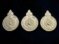 THREE  INDIA Bharat Boy Scouts & Girl Guides Metal BADGES