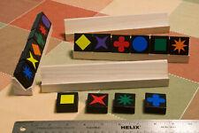 Racks for Qwirkle game tiles (wood, set of 4)