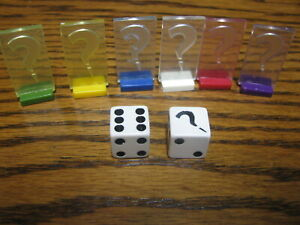 2008 Clue Discover The Secrets Replacement Dice & Tokens      # LV BK N