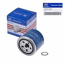 Genuine OEM For Hyundai/Kia Oil Filter 26300-35504 & Plug Gasket 21513-23001
