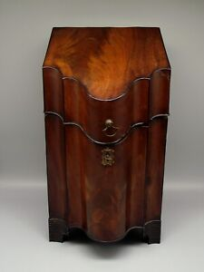 George III Serpentine Form Mahogany Knife Box ca.1800