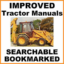Case 580k Phase 1 Tractor Repair Service Owner Parts 8 Manuals Searchable Cd