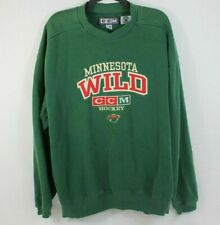 Minnesota Wild CCM Hockey Green Sweatshirt Size L