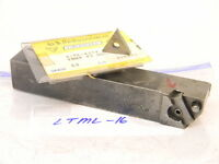 """USED VALENITE 1.00"""" SHANK LTML 16 TURNING TOOL HOLDER WITH 5PCS. CARBIDE INSERTS"""