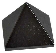 PYRAMID - HEMATITE 24-28mm Crystal w/Description & Pouch - Healing Reiki Stone