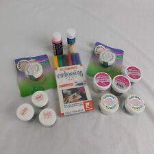 Lot 13 Embossing Powder Pens Prisma Glitter Pad Inker Stampede Stampendous