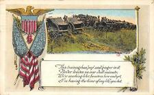 WWI MILITARY GUNS POEM JERSEY CITY NEW JERSEY POSTCARD 1918