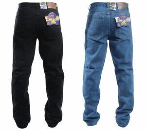 Mens Blue Circle Big Size King Size Jeans Heavy Duty Regular Fit Waist 28 - 60