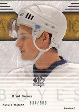 2003-04  #162  SP Authentic Brad BOYES  RC    Toronto Maple Leafs
