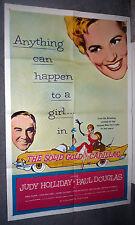 THE SOLID GOLD CADILLAC original movie poster HIRSCHFELD artwork/JUDY HOLLIDAY