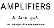 The Technique of Sound Reproduction: Amplifiers * CDROM * PDF