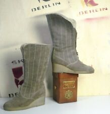 ARA Damen Stiefel Boots Grau Wildleder Futter Biberlamm True Vintage Winterboots