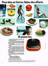 PUBLICITE ADVERTISING  1973   TERRAILLON  pèse- personne