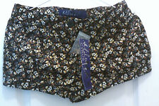 WOW!New With Tags Miley Cyrus BCBG Max Azria Bk/Brown Floral Print Shorts Size 1