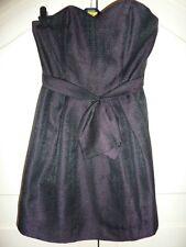 Next strapless, layered dress (party, cocktail). Dark purple. Size 10