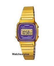 Casio LA670WGA-6 Women's Metal Band Vintage Gold Tone Digital Watch