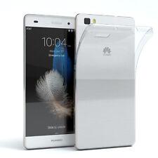 Schutz Hülle für Huawei P8 Lite (2015) Case Silikon Handy Cover Transparent