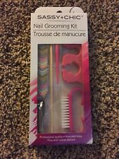 sassy+chic nail grooming kit assorted clipper, brush,stick,trimmer. .