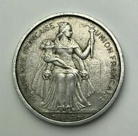 Dated : 1952 - France - 5 Francs Coin - Oceania - French Polynesia