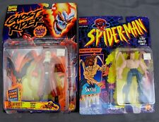 "Marvel Comics Ghost Rider BLACKOUT & Spider-Man SMYTHE 5"" Action Figures ToyBiz"