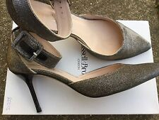 RUSSELL BROMLEY LOTTIE HI SILVER GOLD GLITTER BLING SPARKLE MARY JANE SHOES 41