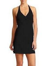 Athleta Tara Halter Swimdress Black Large 38 B/c Retail