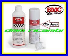 Kit Pulizia BMC per Filtri Sportivi AUTO MOTO detergente + olio spray filtro