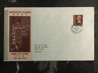 1973 Hong Kong First Day Cover FDC Definitive Stamps 25c Stamp