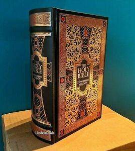 The Holy Bible King James Version Gustave Dore Illustrated Leather Bound NEW