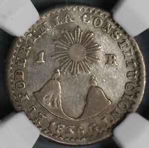 1836 GJ NGC VF 25 Ecuador 1 Real Rare Quito Silver Coin POP 1/1 (19030902C)