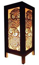 Handmade Owl Table Lamp - Vintage Design - UL and CE Listed