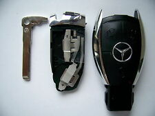 MERCEDES BENZ SMART KEY FOB REMOTE SHELL 3 BUTTON CHROME CASE