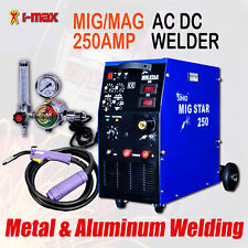 New 250A 250 Amp Gas Mig/Mag Welder Welding Machine for Aluminium, Metal