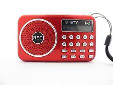 Portable Usb/Tf card Mp3 Player Fm Radio Rec Recorder Led Digital speaker I2 New