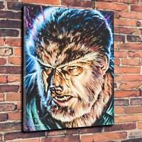 "Classic Horror Wolf-man, Lon Chaney Jr Printed Canvas A1.30""x20""~Deep 30mm Frame"