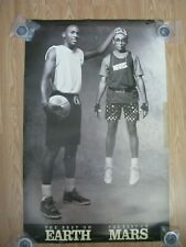 "MICHAEL JORDAN/SPIKE LEE ""BEST EARTH, BEST MARS"" ORIGINAL NIKE POSTER"