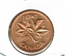 1965 Canadian Uncirculated One Cent Elizabeth II Coin!