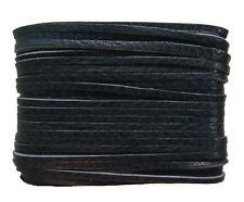 weiches Leder Flechtband Ziegenleder auf Karte schwarz, Länge 10 m, Breite ca. 2