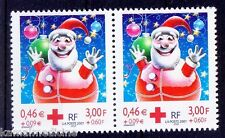France 2001 MNH 1v Pair, Red Cross, Father Chritsmas -  Rs14