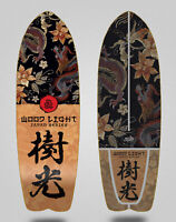 Wood light monopatin skate skateboard surfskate deck Japan series Furia 29 fish