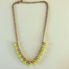 J.Crew Fluorescent Yellow Necklace with Crystals